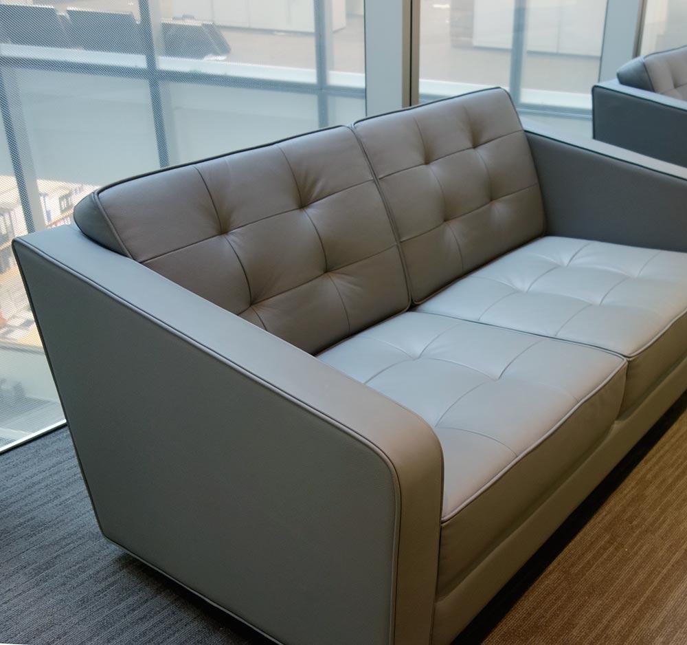 Designer leather grey sofa