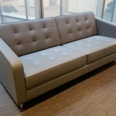 Designer leather grey sofa