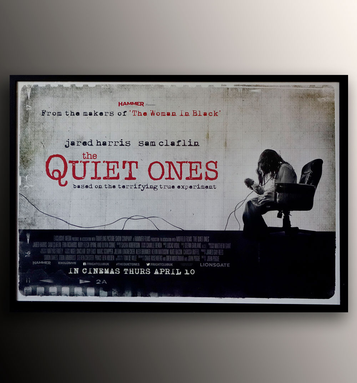 the quiet ones original uk quad cinema poster 2014