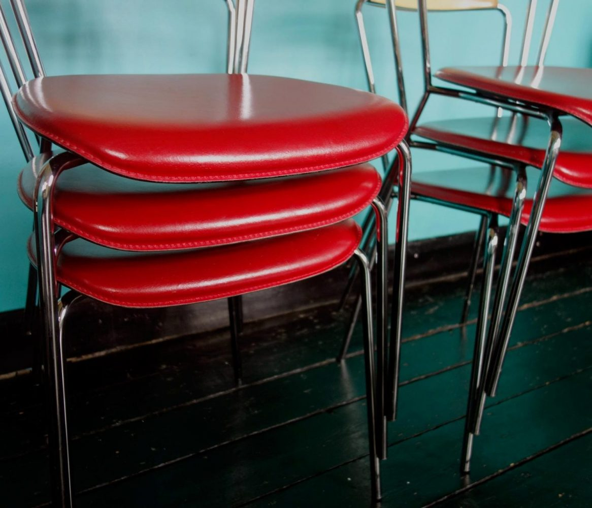 Six 1950s American Retro Style Dining Chairs 20th