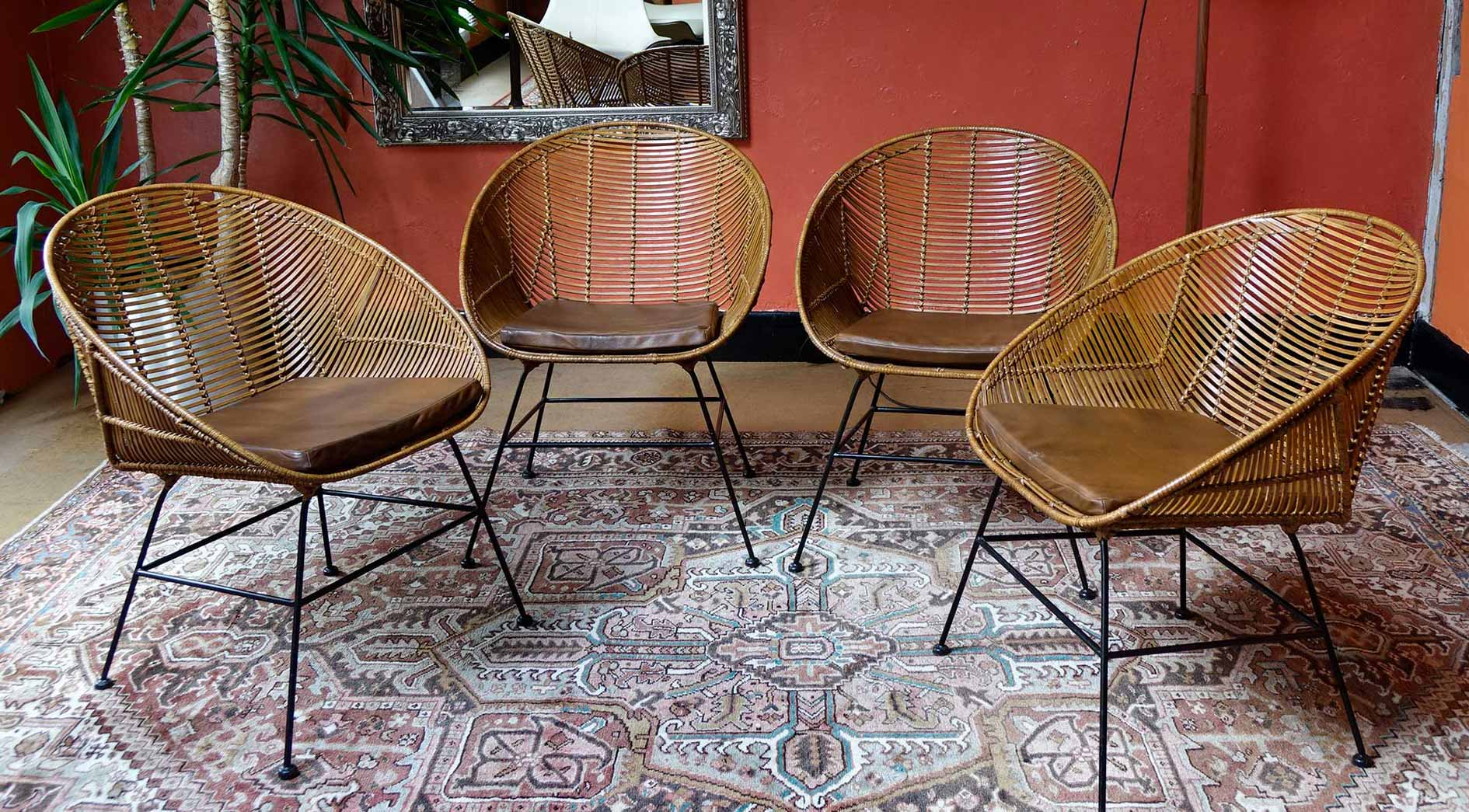 Vintage rattan chair - House Doctor Retro Rattan Tub Chairs