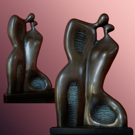 modern bronze statue