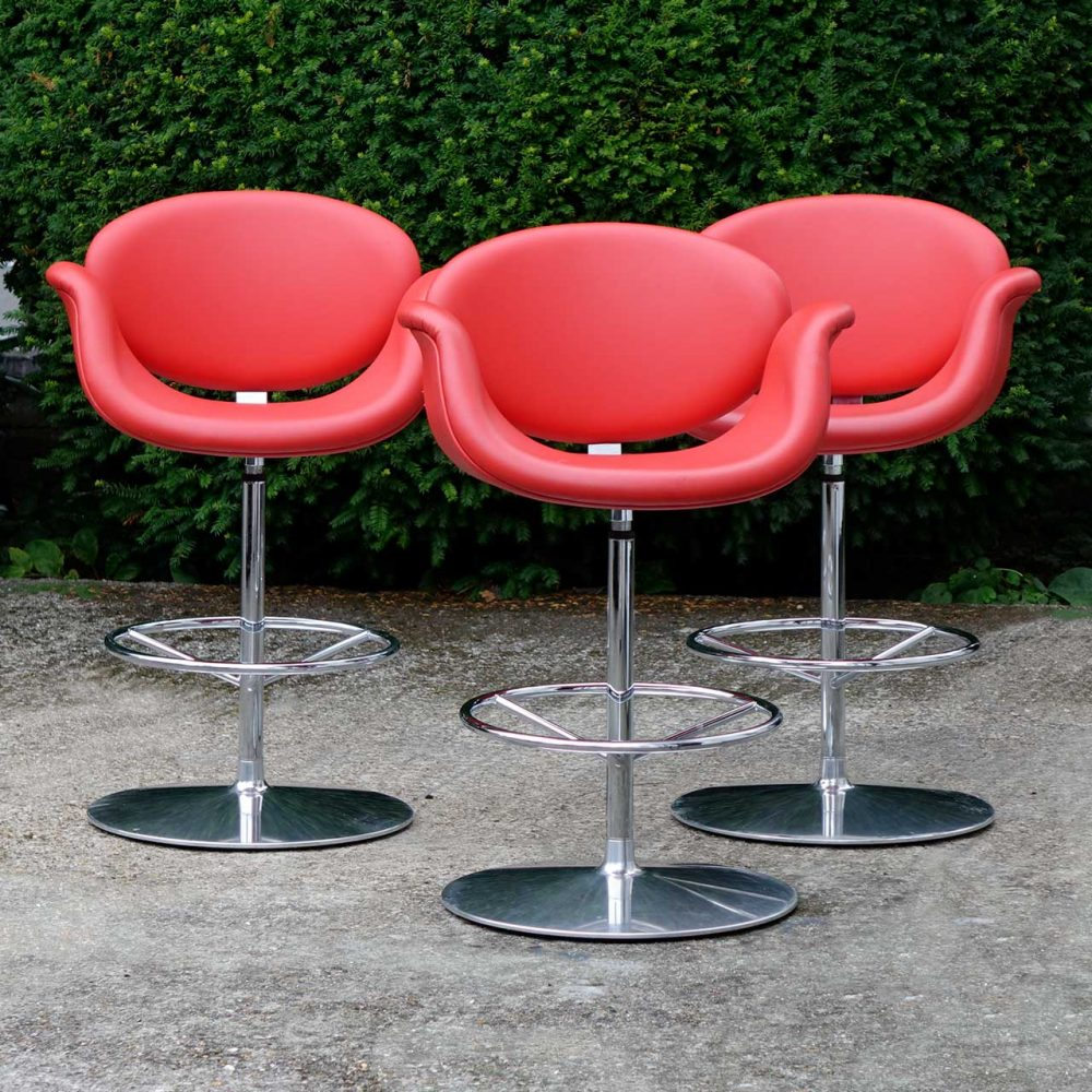 Pleasing 3 X Artifort Little Tulip Bar Stools By Pierre Paulin Creativecarmelina Interior Chair Design Creativecarmelinacom
