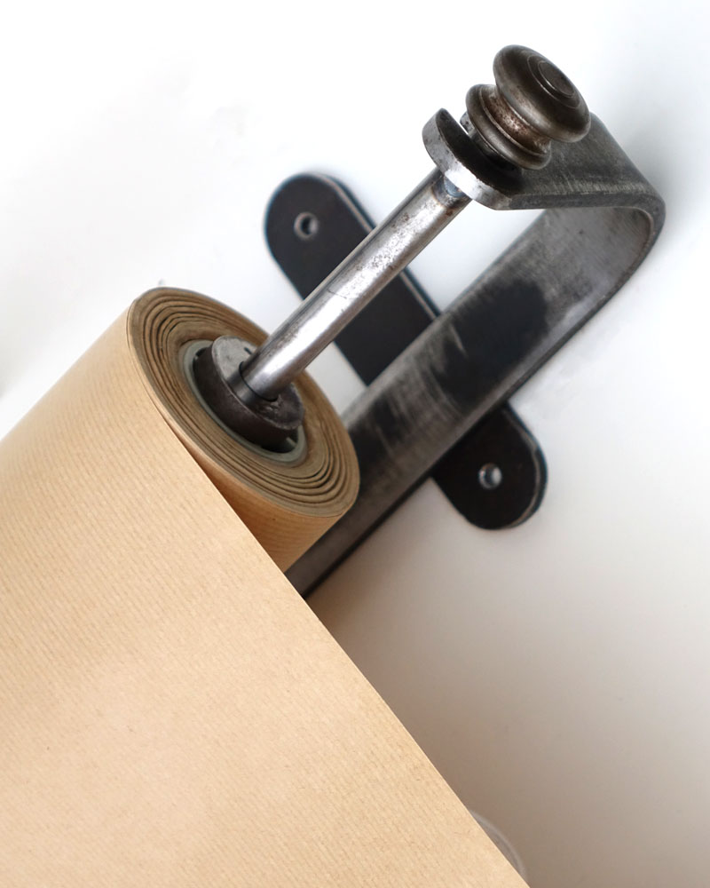 Wall Mounted Kraft Paper Roll Metal Holder Paper Dispenser