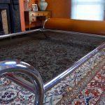 Italian 1970s Space Age Chrome Bed by Renato Zevi