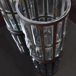 Vintage hurricane candle holders