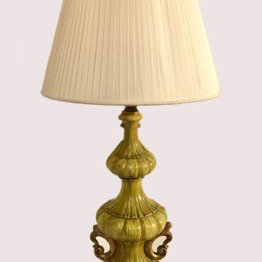 Arts and crafts style ceramic light